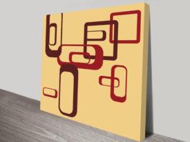 Retro Geometric Art Online Brisbane