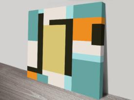 Retro Geometric canvas Art Perth