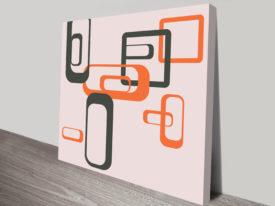 Retro Geometric Art Melbourne