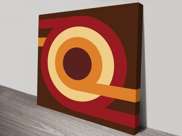 Retro Geometric Pattern Art Australia