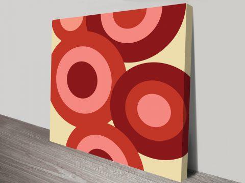 Retro Geometric Canvas Art Sydney