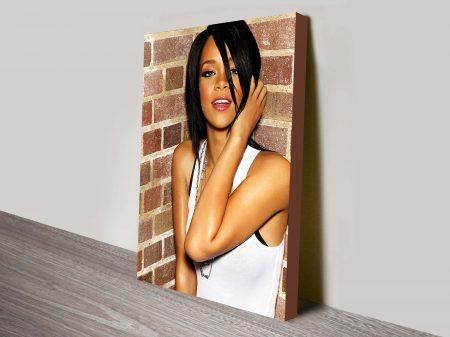 Rihanna music canvas print.