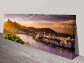 Rio de Janeiro Brazil Panoramic canvas print