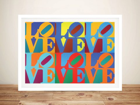 Robert Indiana Love Collage Home Decor Art