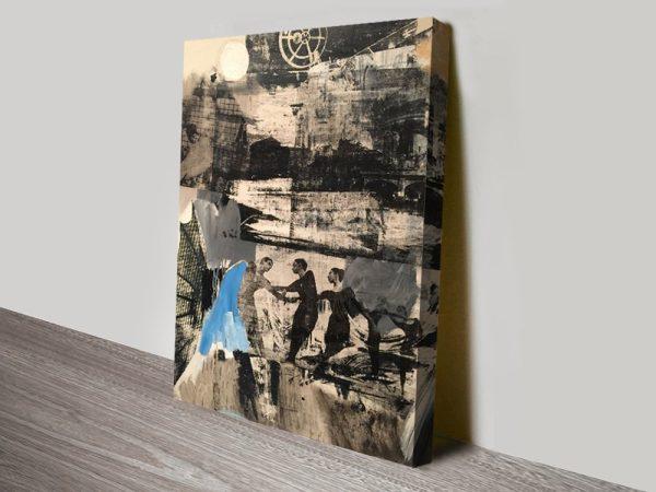Robert Rauschenberg Scanning Screenprint Canvas Print