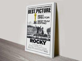Rocky Movie Poster Canvas Print