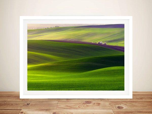 Rolling Hills Landscape Wall Art Print On Canvas