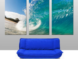 Rolling Waves Triptych Canvas Print