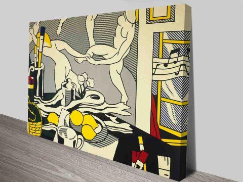 Roy Lichtenstein Artists Studio The Dance Print