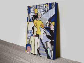 Roy Lichtenstein Bauhaus Stairway Canvas Print