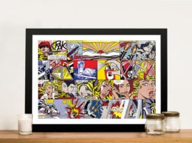 Roy Lichtenstein Collage Framed Wall Art Australia