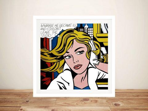 M-Maybe by Roy Lichtenstein Pop Art Australia