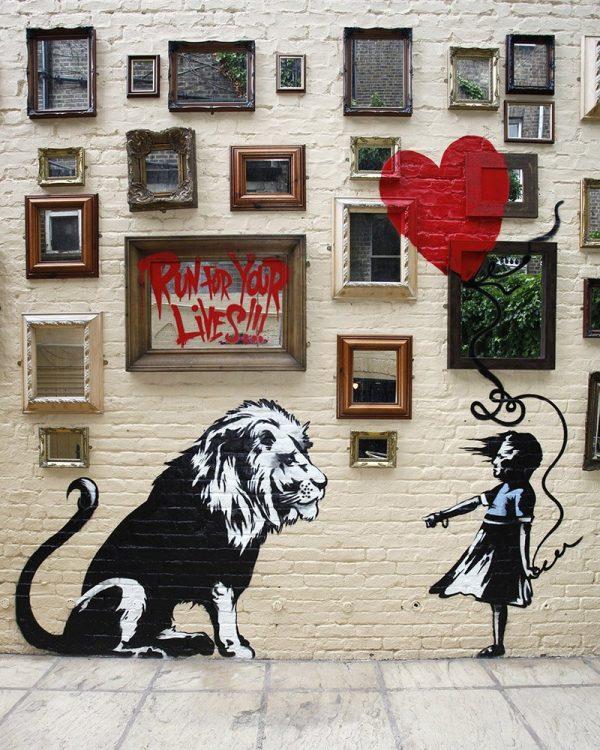 Banksy Mural At The Princess Of Wales Pub In Primrose Hill