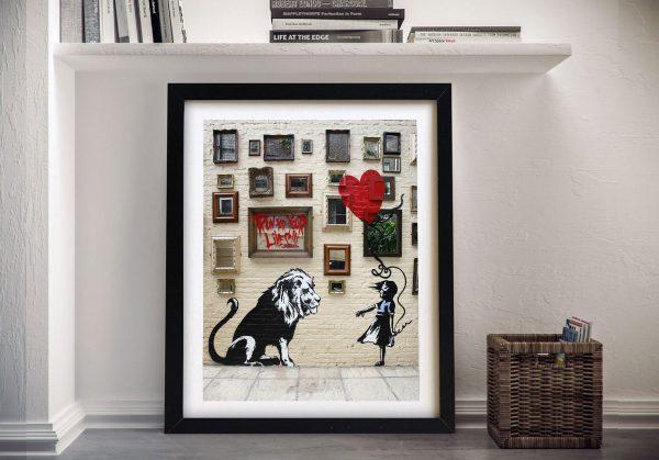 Run for your Lives Banksy Framed Wall Art
