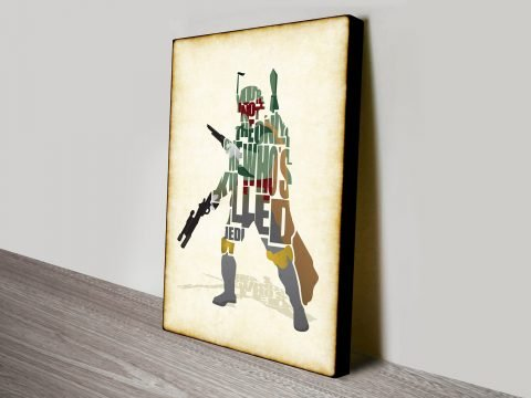 Sboba Fett Typographic Star Wars Art