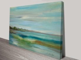 Emerald Lagoon Canvas Painting