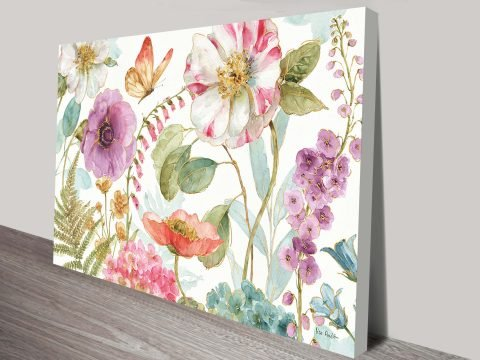 Rainbow Seeds Flowers Canvas-Print