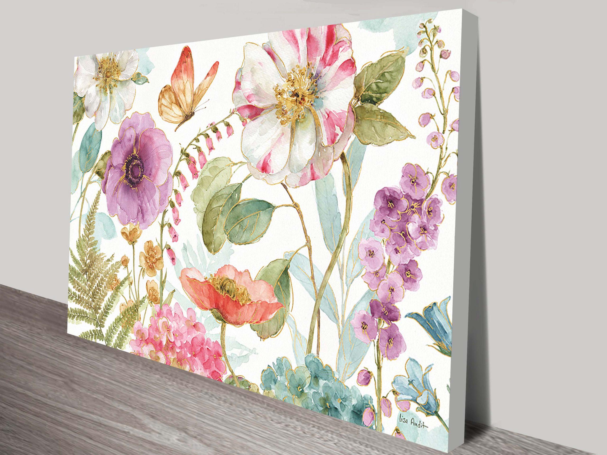 Rainbow Seeds Flowers Canvas-Print