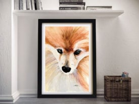 Teddy The Pomeranian Canvas Wall Art Online