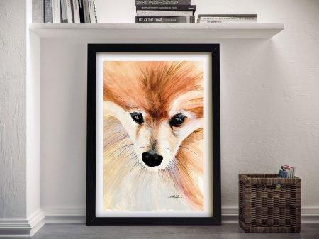 Teddy The Pomeranian Canvas Wall Art Online