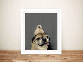 Jack The Pug Print From Painting