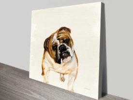 Fergi The Bulldog Paint to Print to Canvas