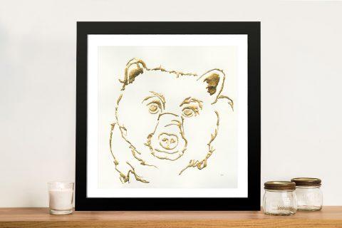 Gilded Black Bear Canvas Gift Ideas