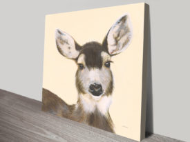 Woodland Critter - Deer Painting To Print Artwork