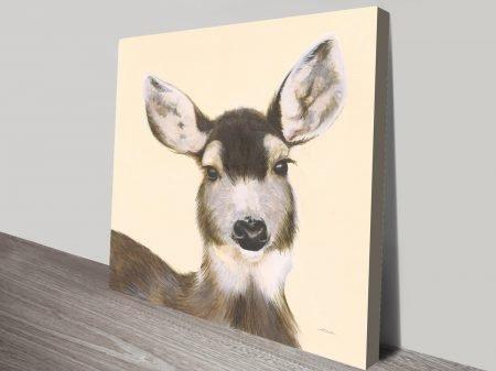 Woodland Critter - Deer Painting To Print Artwork