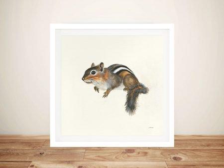 Woodland Critter - Chipmunk Canvas Printing Wall Art