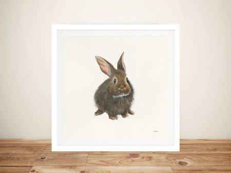 Woodland Critter - Rabbit Canvas Wall Art