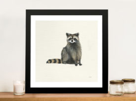 Woodland Critter - Raccoon Painting Print Wall Art