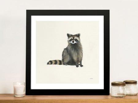 Woodland Critter - Raccoon Painting Print Wall Art