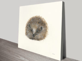 Woodland Critter - Hedgehog Canvas Wall Art