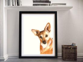 Xena The Corgi Cheap Canvas Prints