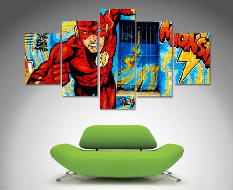 marvel comic split canvas wall art