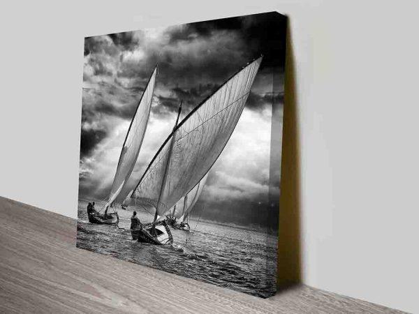 Sailing Wings Black & White Sailing Canvas Wall Artwork Online Australia