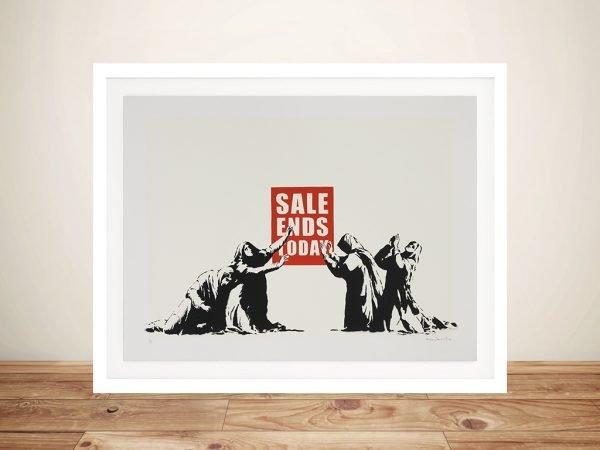 Sales Ends Today Banksy Framed Wall Art Picture