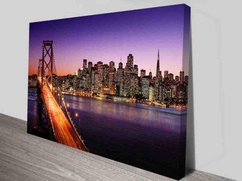 San Francisco San Francisco Bay Bridge Photo Canvas