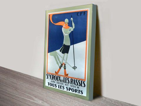 Santa Croix Vintage Ski Poster