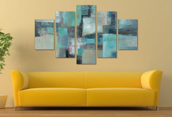 Sea Foam by Silvia Vassileva Five Piece Artwork Canvas Wall Art