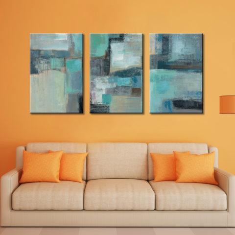 Sea Foam Silvia Vassileva Triptych Canvas Print
