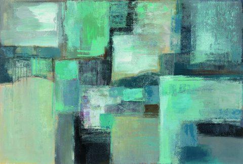 Seafoam Abstract Silvia Vassileva Painting Print