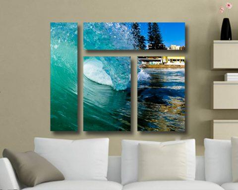 Ocean Tubes Mixed 4 Panel