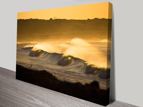 Seascapes sunset art wall print