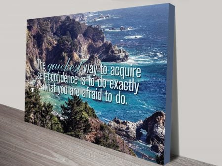 self confidence quote wall art canvas print australia
