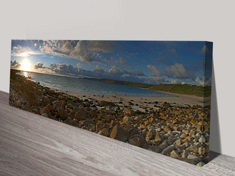 Sennen Beach Panorama Canvas Print
