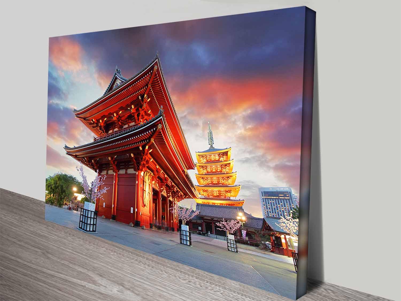 Senso-ji Temple Affordable Travel Art Online