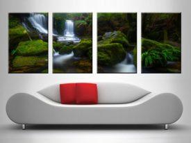 Serene Falls 4 Panel