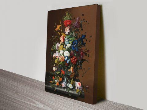 Severin Roesen Flower Still Life with Bird's Nest